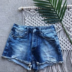 Topshop Moto Distressed Jean Shorts Size 2